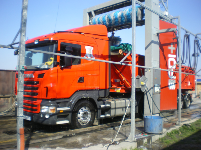 Station lavage camion